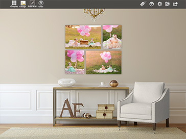 Design your client wall galleries in Shoot & Sell